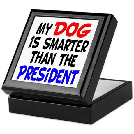 Dog Smarter Than-2 Keepsake Box