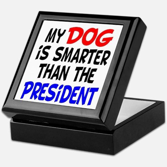 Dog Smarter Than-2 Keepsake Box