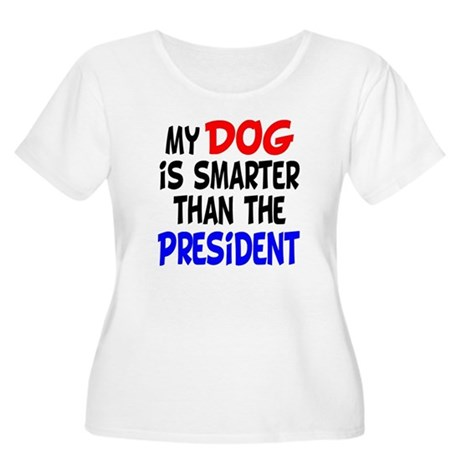 Dog Smarter Than-2 Women's Plus Size Scoop Neck T-
