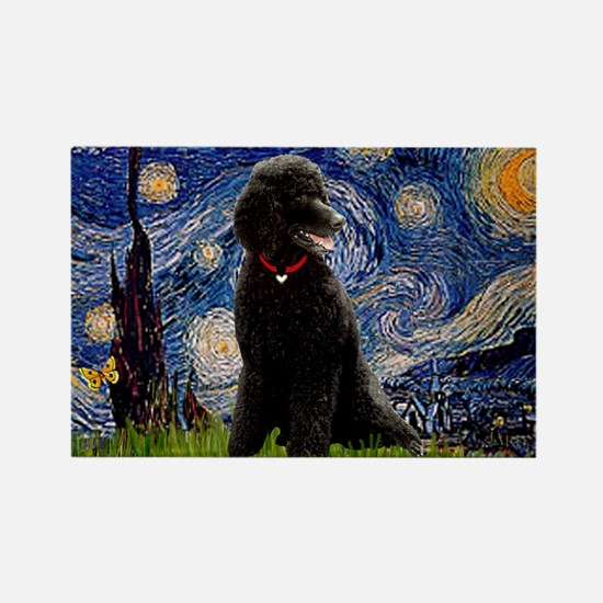 Starry / Std Poodle(bl) Rectangle Magnet