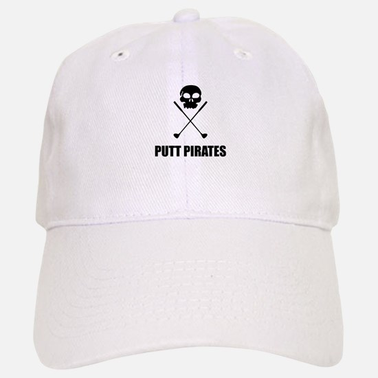 Golf Skull Crossed Putt Pirates Baseball Baseball Baseball Cap