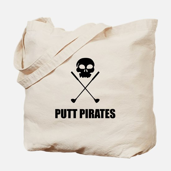 Golf Skull Crossed Putt Pirates Tote Bag