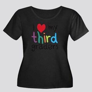 I Heart My Third Graders Teacher Love Plus Size T-