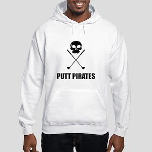 Golf Skull Crossed Putt Pirates Sweatshirt