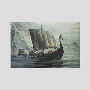 Viking Ship Rectangle Magnet