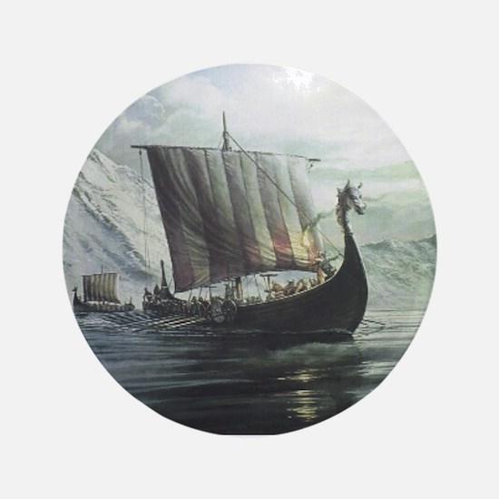 "Viking Ship 3.5"" Button"