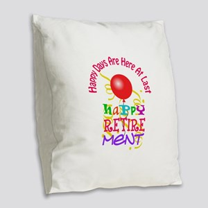 Happy Days Burlap Throw Pillow