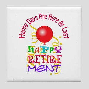Happy Days Tile Coaster