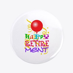Happy Retirement Button