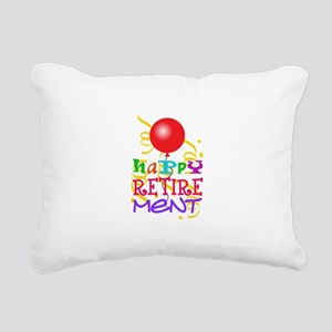Happy Retirement Rectangular Canvas Pillow