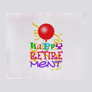 Happy Retirement Throw Blanket