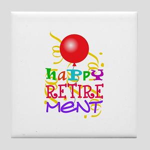 Happy Retirement Tile Coaster