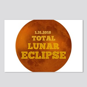 Total Lunar Eclipse. Bloo Postcards (Package of 8)