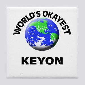 World's Okayest Keyon Tile Coaster