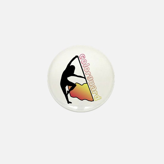 Colorguard Flag Mini Button