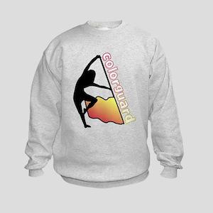Colorguard Flag Kids Sweatshirt