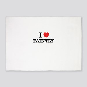 I Love FAINTLY 5'x7'Area Rug
