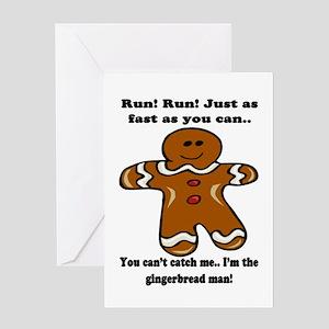 GINGERBREAD MAN! Greeting Card