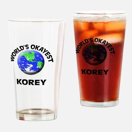 World's Okayest Korey Drinking Glass