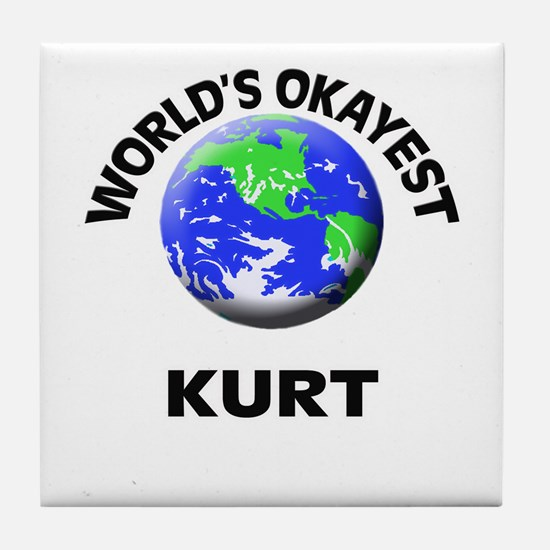 World's Okayest Kurt Tile Coaster