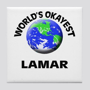 World's Okayest Lamar Tile Coaster