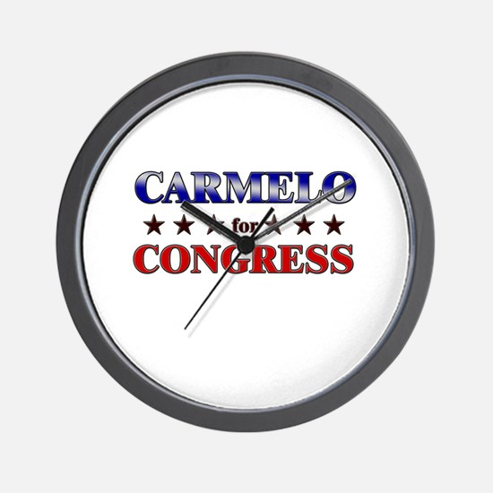 CARMELO for congress Wall Clock