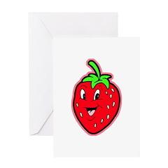 Happy Strawberry Greeting Card
