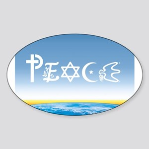 Peace On Earth at Sunrise Oval Sticker