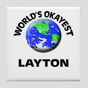 World's Okayest Layton Tile Coaster