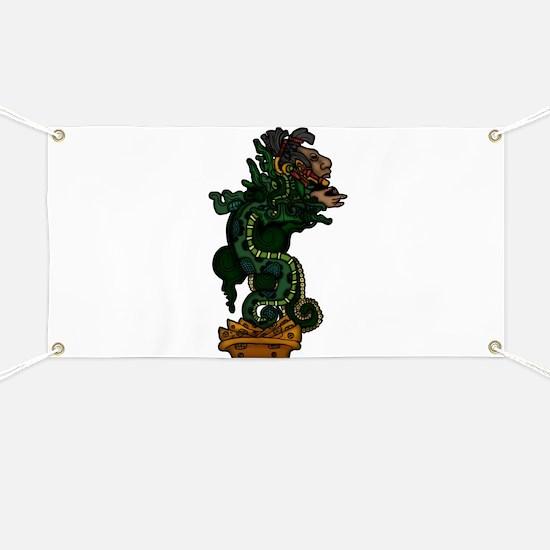 Mayan Serpent God Banner