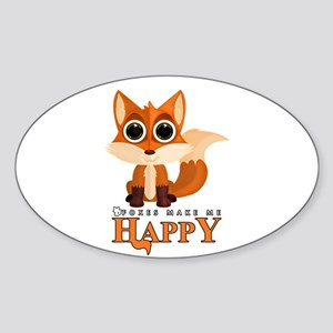 Foxes Make Me Happy Sticker
