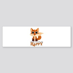 Foxes Make Me Happy Bumper Sticker