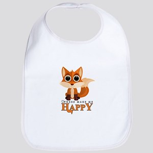Foxes Make Me Happy Bib