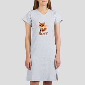 Foxes Make Me Happy Women's Nightshirt