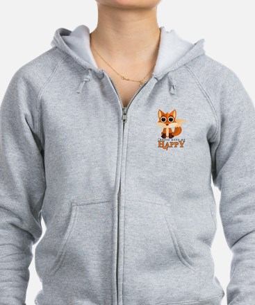 Foxes Make Me Happy Zip Hoodie