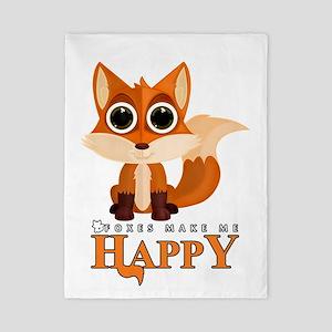 Foxes Make Me Happy Twin Duvet