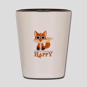 Foxes Make Me Happy Shot Glass