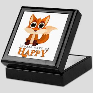 Foxes Make Me Happy Keepsake Box