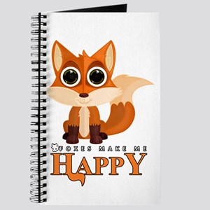 Foxes Make Me Happy Journal