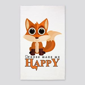 Foxes Make Me Happy Area Rug