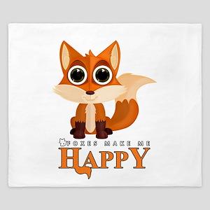 Foxes Make Me Happy King Duvet