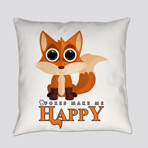 Foxes Make Me Happy Everyday Pillow