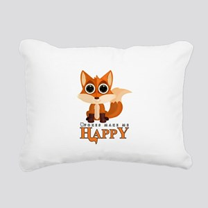 Foxes Make Me Happy Rectangular Canvas Pillow