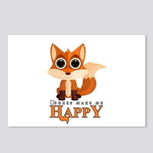 Foxes Make Me Happy Postcards (Package of 8)