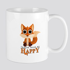 Foxes Make Me Happy Mugs