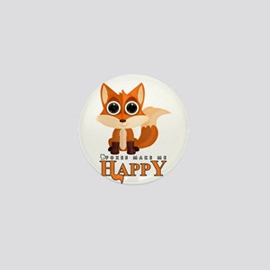 Foxes Make Me Happy Mini Button