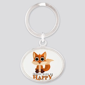 Foxes Make Me Happy Keychains