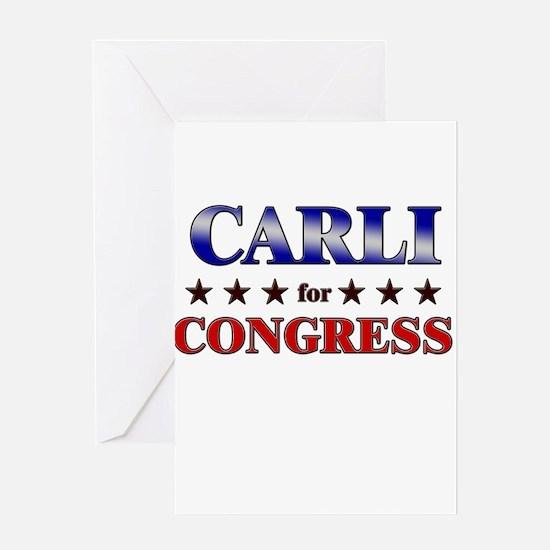 CARLI for congress Greeting Card