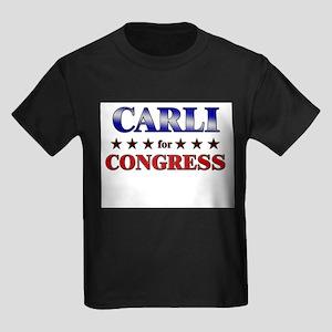 CARLI for congress Kids Dark T-Shirt