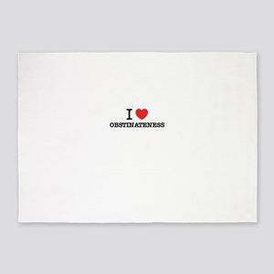 I Love OBSTINATENESS 5'x7'Area Rug